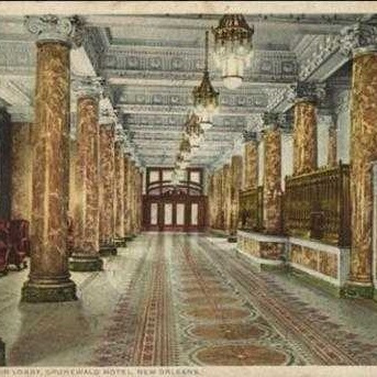 Grunewald Hotel Lobby, now The Roosevelt New Orleans
