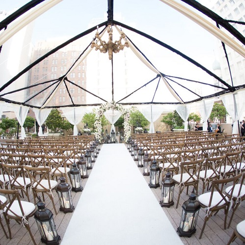 Rooftop Wedding Ceremony at The Roosevelt New Orleans
