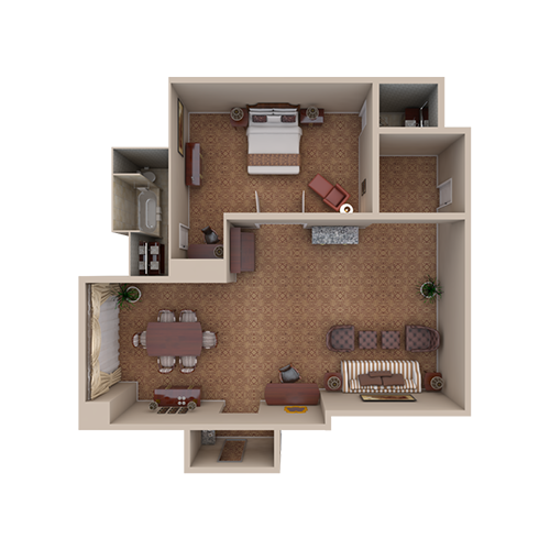 Waldorf Suite - Top Down View