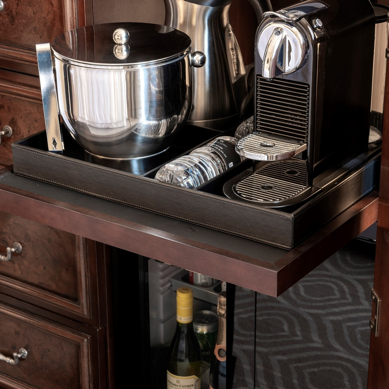 Minibar and Coffee Maker