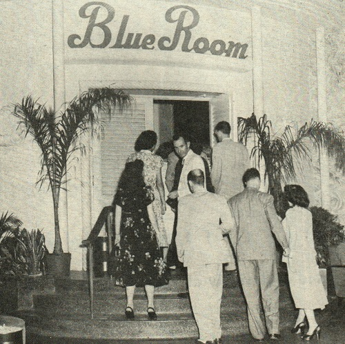 Entrance to the Famous Blue Room at The Roosevelt New Orleans.