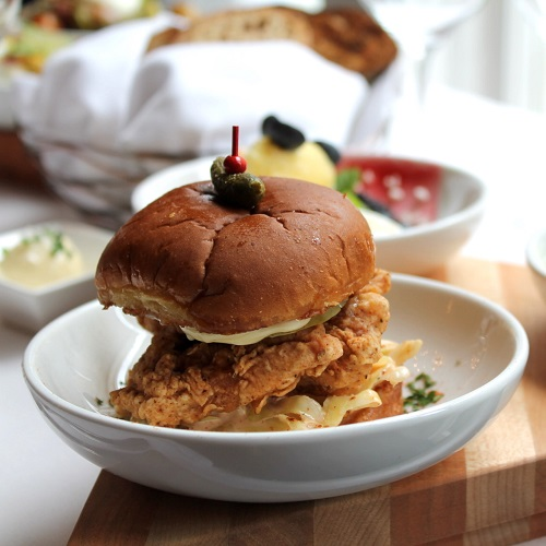 Fried Chicken Slider at The Fountain Lounge