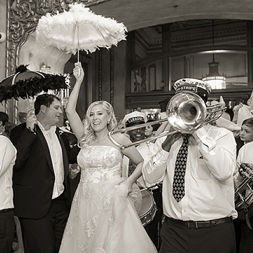 Wedding Secondline Through The Roosevelt New Orleans