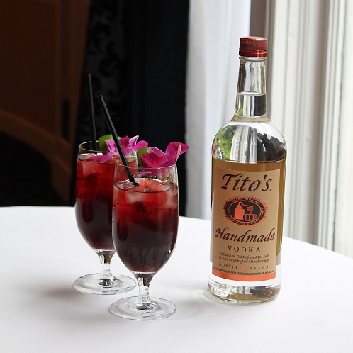 New Hibiscus Tea featuring Tito's Vodka at The Fountain Lounge